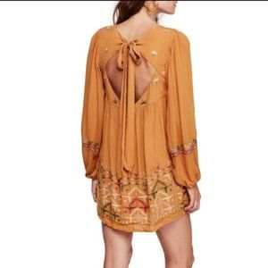 NWT Free People Rhiannon Embroidered Dress XS